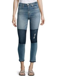 rag & bone/JEAN Dive Colorblock High-Rise Capri Jeans/Olana