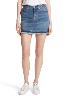 rag & bone/JEAN Dive Denim Skirt