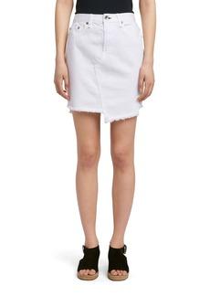 rag & bone/JEAN Dive Denim Skirt (White)