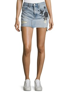 rag & bone/JEAN Dive Embroidered Denim Mini Skirt
