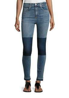 rag & bone/JEAN Dive High-Rise Colorblock Capri Jeans