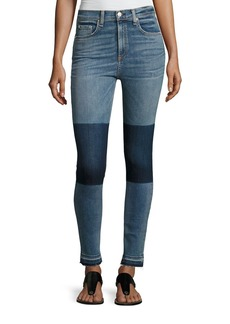 rag & bone/JEAN Dive High-Rise Colorblock Capri Jeans