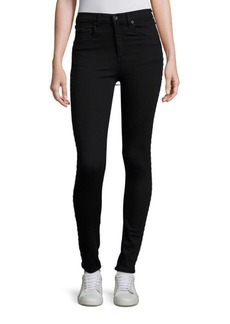 rag & bone/JEAN Dive Super High Rise Grommet Detail Jeans