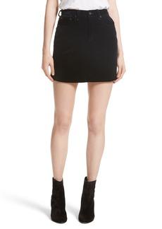 rag & bone/JEAN Dive Velvet Miniskirt (Black Velvet)