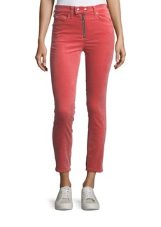 Rag & Bone Dojo High-Rise Stretch-Velvet Cigarette-Leg Jeans