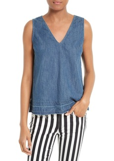 rag & bone/JEAN Drape Denim Tank