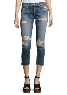 rag & bone/JEAN Dre Capri Distressed Denim Jeans