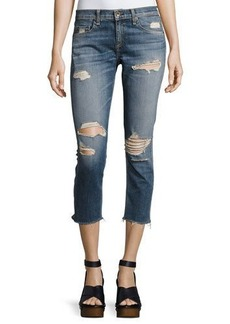 rag & bone/JEAN Dre Capri Distressed Denim Jeans