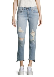 rag & bone/JEAN Dre Distressed Step Hem Capri Jeans/Marina