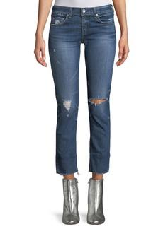 rag & bone/JEAN Dre Distressed Straight-Leg Jeans
