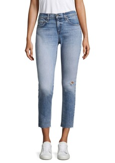 Rag & Bone Dre Medium-Wash Ankle Skinny Jeans