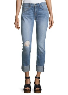 rag & bone/JEAN Dre Slim-Fit Boyfriend Jeans w/ Distressing