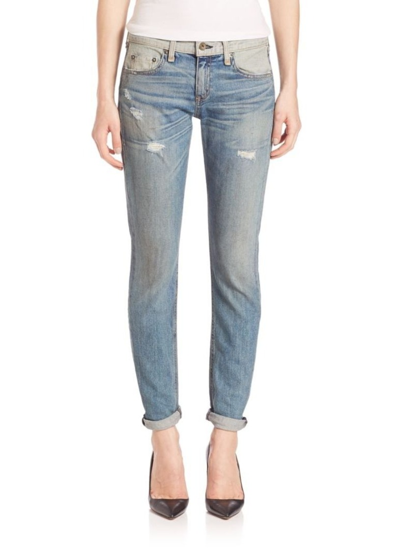 rag & bone/JEAN Dre Slim-Fit Colorblock Boyfriend Jeans