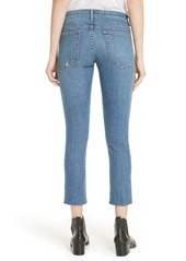 rag & bone Dre Snap Hem Slim Fit Crop Boyfriend Jeans