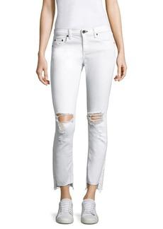 rag & bone/JEAN Dre Step Hem Distressed Capri Jeans