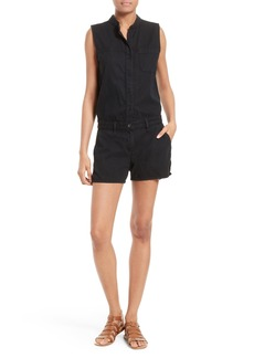 rag & bone/JEAN Dumont Cutout Back Cotton Romper