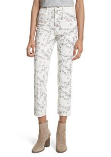 rag & bone/JEAN Ellie Crop Cigarette Leg Jeans (Micro Floral)