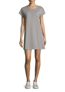 rag & bone/JEAN Eyelet Short-Sleeve Tee Cotton Dress