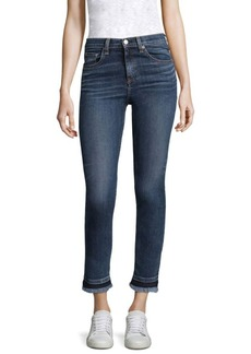 rag & bone/JEAN Hana Croyden High-Rise Cropped Frayed Hem Jeans