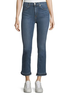 rag & bone/JEAN Hana High-Rise Cropped Boot Jeans w/ Frayed Hem