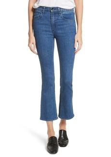 rag & bone/JEAN Hana High Waist Crop Bootcut Jeans (Clean El)