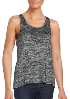 rag & bone/JEAN Heathered Twist-Back Tank Top