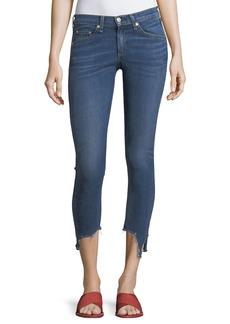 "rag & bone/JEAN High-Rise 10"" Capri Jeans w/ Destroyed Hem"