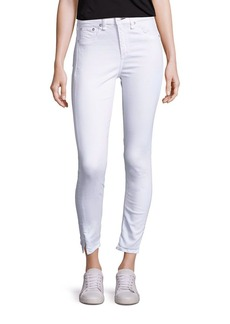 rag & bone/JEAN High-Rise Ankle Slit Capri Jeans