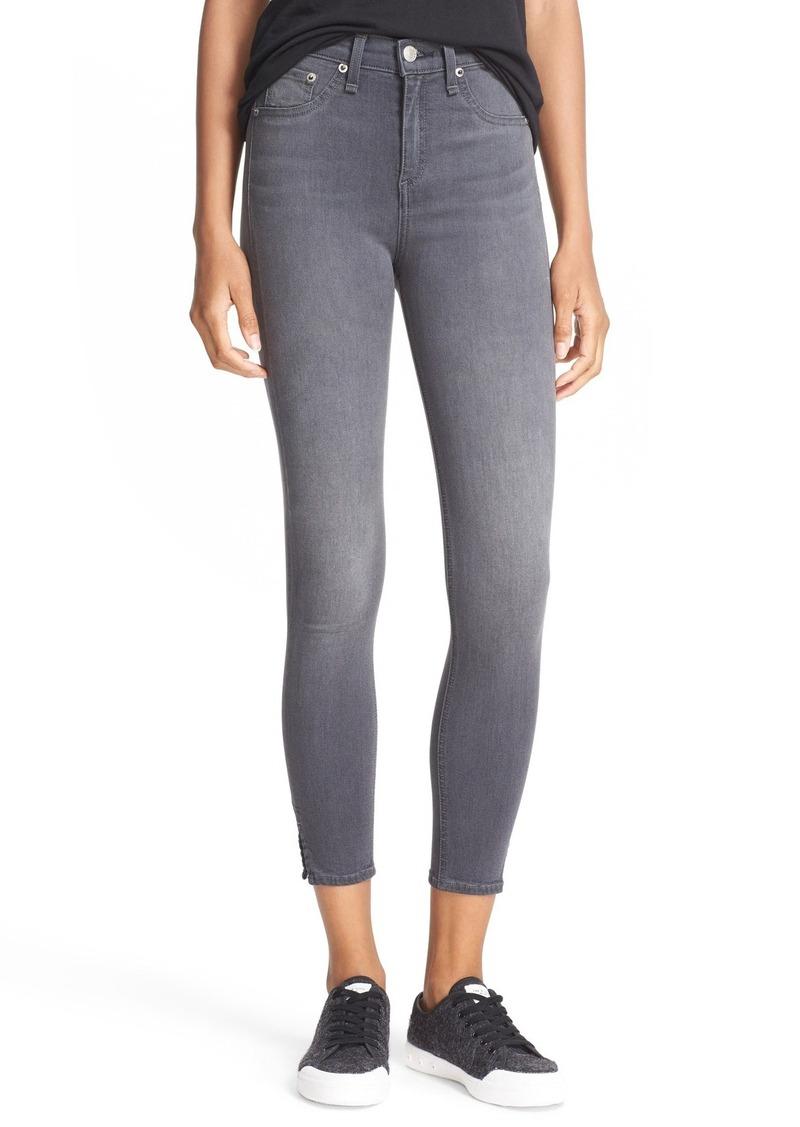 Rag & Bone rag & bone/JEAN High Rise Capri Skinny Jeans (Black ...