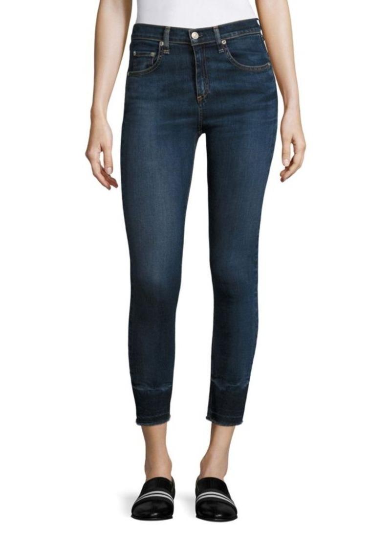 High rise skinny jeans capri