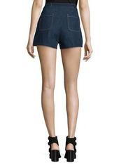 rag & bone/JEAN High-Rise Lace-Up Denim Shorts