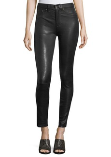 Rag & Bone High-Rise Lamb Leather Skinny Pants