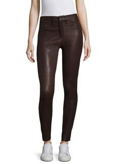 rag & bone/JEAN High-Rise Leather Skinny Jeans