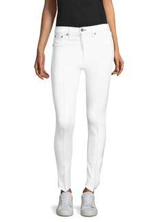 Rag & Bone High-Rise Pintuck Jeans