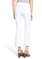 rag & bone High Rise Raw Hem Crop Flare Jeans (Bright White)