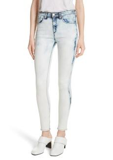 rag & bone/JEAN High Rise Skinny Jeans (Bleach)