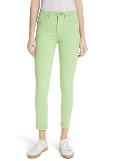 rag & bone/JEAN High Rise Skinny Jeans (Lime)