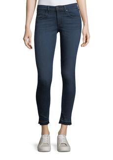 Rag & Bone High-Rise Skinny Ankle Jeans w/ Released Hem