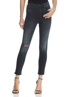 rag & bone/JEAN High Rise Skinny Raw Hem Jeans in Steele Hampton - 100% Exclusive
