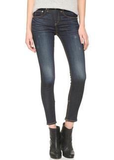 Rag & Bone/JEAN High Rise Skinny Zipper Crop Jeans