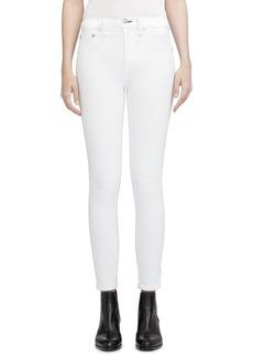 rag & bone High Waist Ankle Skinny Jeans (Blanc)