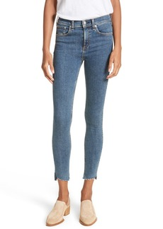 rag & bone/JEAN High Waist Ankle Skinny Jeans (Clean Commodore)