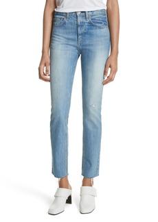 rag & bone/JEAN High Waist Ankle Skinny Jeans (Helena)