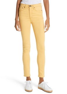 rag & bone/JEAN High Waist Ankle Skinny Jeans (Sunrise)