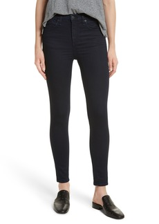 rag & bone/JEAN High Waist Ankle Skinny Jeans (Twilight)