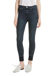 rag & bone/JEAN High Waist Ankle Skinny Jeans (Vee)