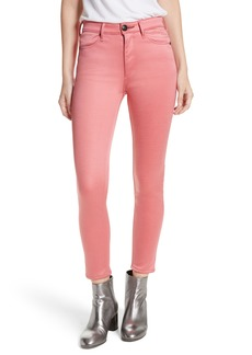 rag & bone/JEAN High Waist Ankle Skinny Jeans (Washed Red)