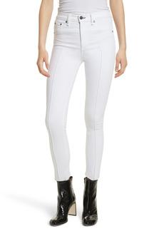 rag & bone/JEAN High Waist Ankle Skinny Jeans (White Manson)