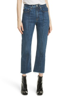 rag & bone/JEAN High Waist Ankle Straight Leg Jeans (Dagmar)
