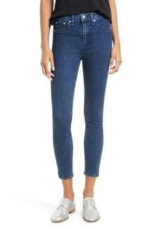 rag & bone/JEAN High Waist Capri Jeans (Clean Dark Paz)
